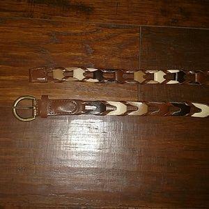 Multicolored brown belt